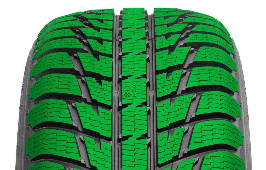 Snow Tyres - Nokian WR SUV3 Snow Claw Tread Pattern